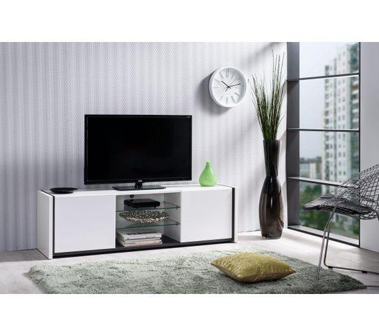 Meuble TV VIK Blanc/brun