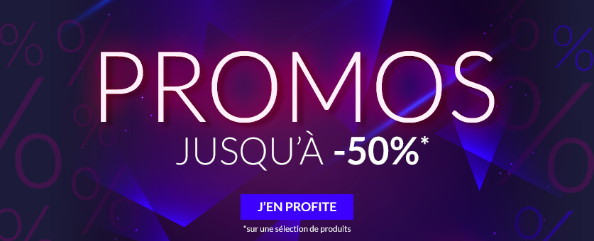 PROMOS jusqu'à -40%* en savoir plus *sur une sélection de produits.