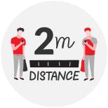 marquage au sol 2m distance