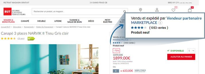 Vendeur partenaire fiche produit